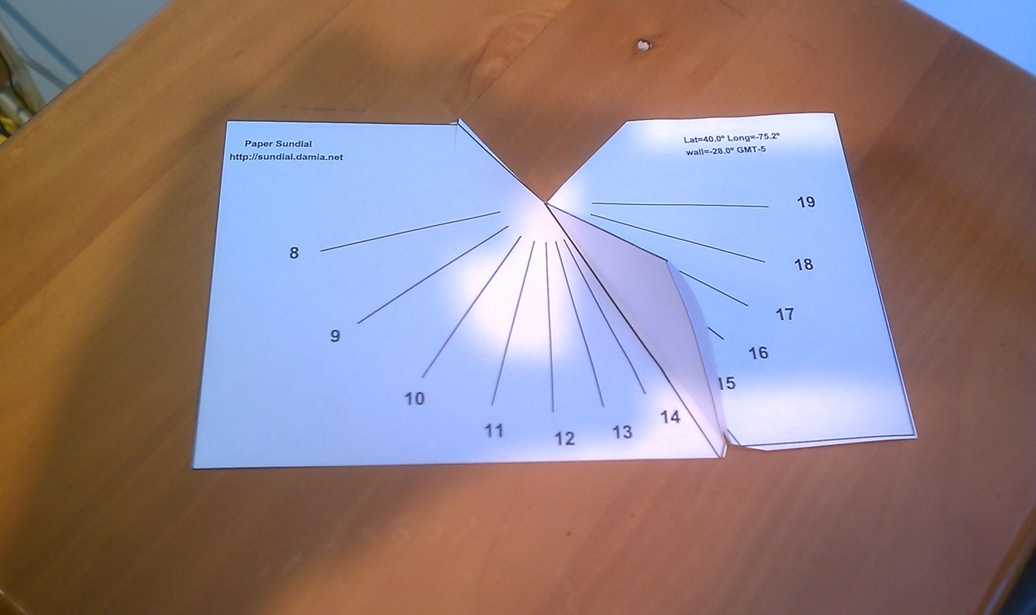Make A Paper Vertical Sundial Spectrum Scientifics