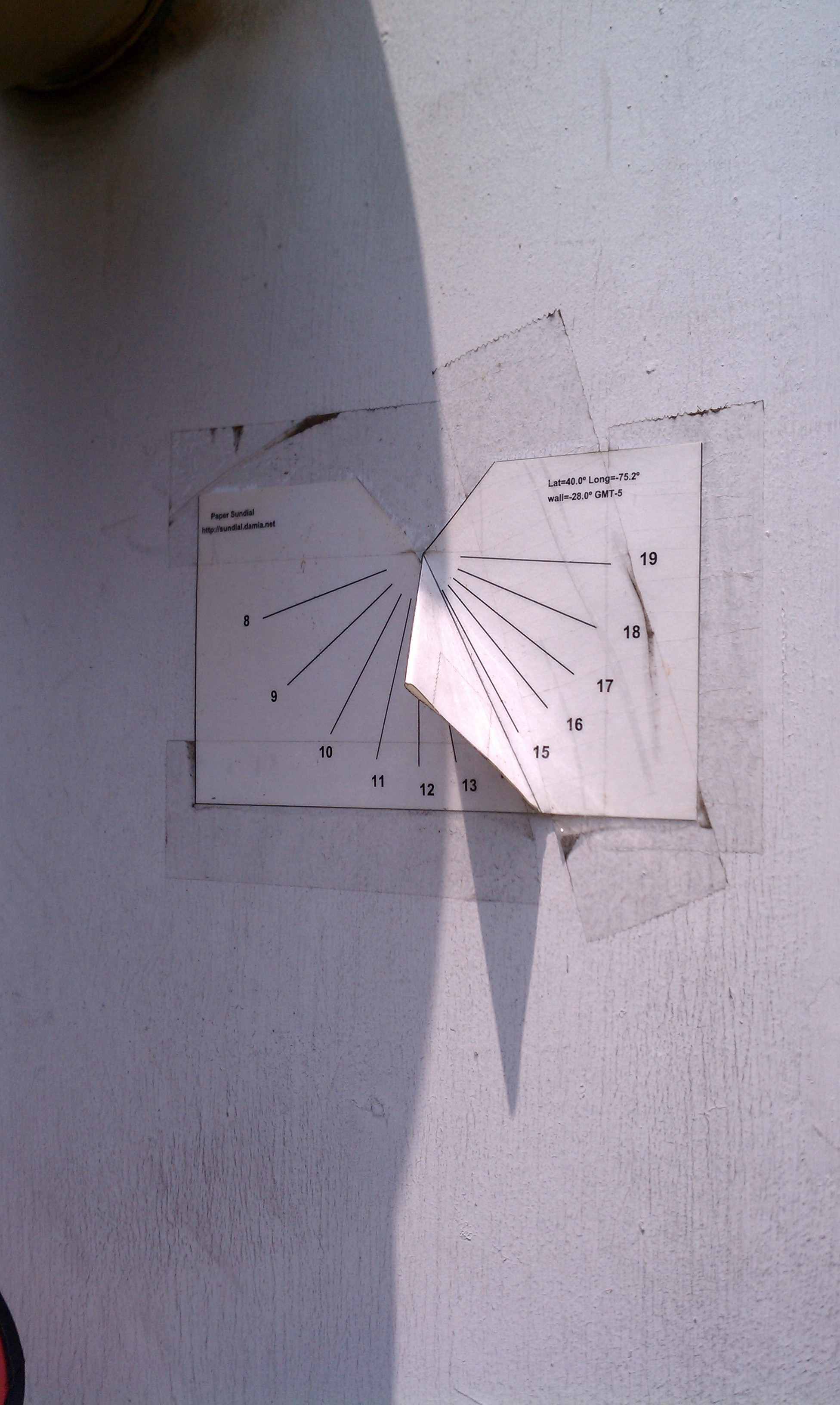 how to make a sundial out of paper