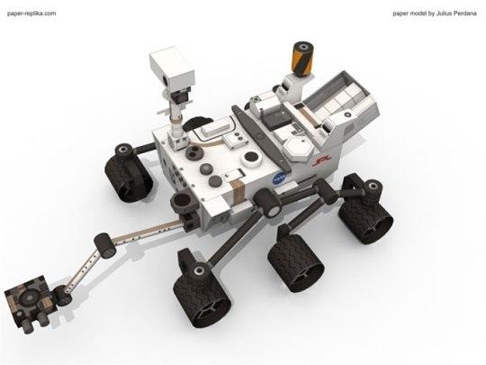 Mars Rover Curiosity Paper Model Spectrum Scientifics Store Blog