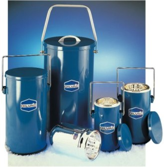 SCILOGEX DILVAC Blue Cased Dewar Flasks